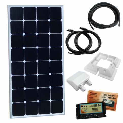 12v solar panels charging kits for caravans motorhomes boats 100w 12v dual battery solar panel kit back contact solar cells for motorhome caravan campers and rvs