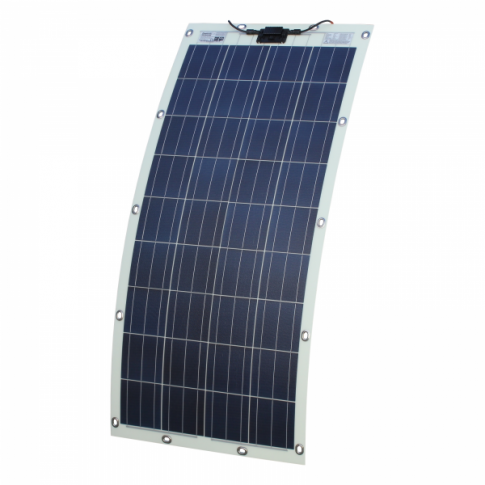 150W semi-flexible solar panel with eyelets and fasteners (made in Austria)