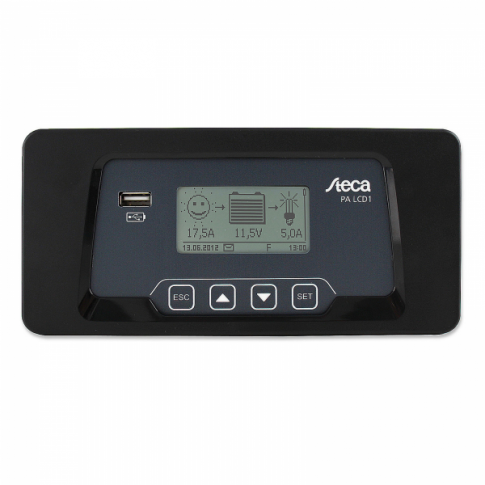 Steca PA LCD1 remote meter / display with 5m cable for Steca Solarix 20A dual battery solar charge controller