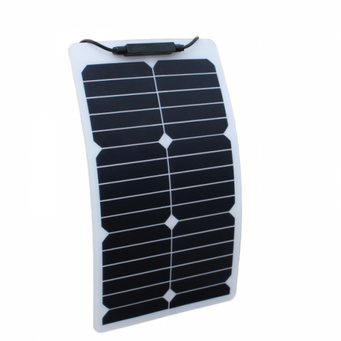 20W Semi-flexible solar panel with durable ETFE coating (Back-contact solar cells)