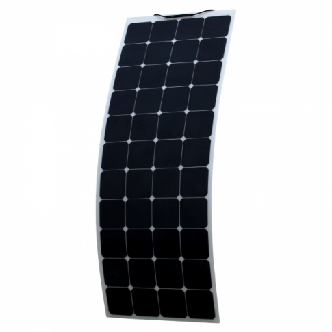 140W flexible solar panel made of back-contact cells with durable ETFE coating, for motorhome, caravan, camper, rv, boat