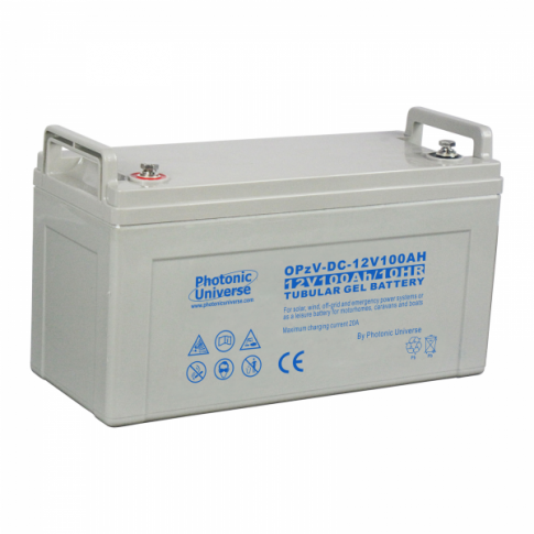 100Ah 12V OPzV tubular gel deep cycle battery for motorhomes, caravans, boats and off-grid power systems