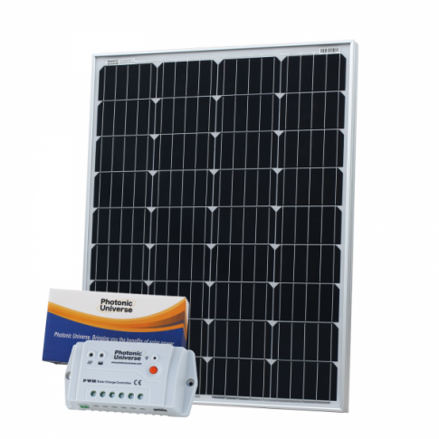 100W 12V solar charging kit with 10A controller and 5m cable (German solar cells)