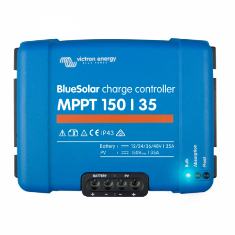 Victron BlueSolar MPPT 150/35 35A solar charge controller for solar panels up to 500W (12V) / 1000W (24V) / 1500W (36V) / 2000W (48V)  up to 150V