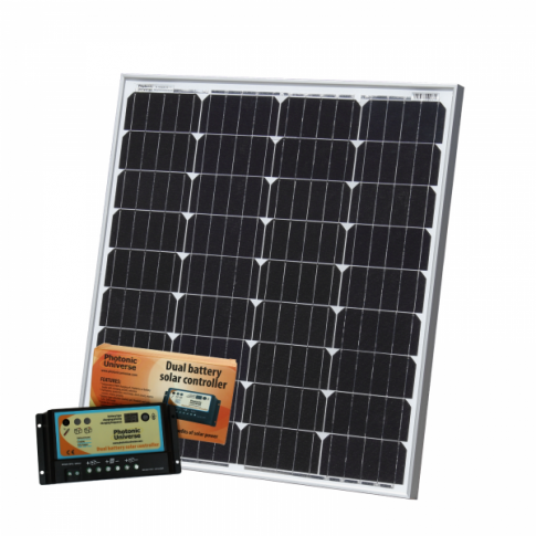 80W 12V dual battery solar kit (German solar cells) for camper / boat with controller and cable
