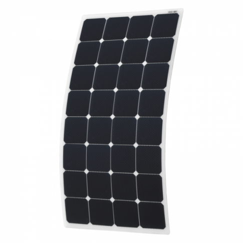 110W Semi-flexible Solar Panel with Round Rear Junction Box and 3m cable, with durable ETFE coating (Back-contact solar cells)