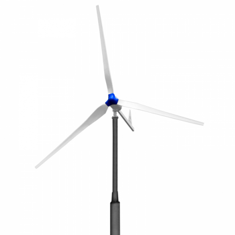 1000W 48V wind turbine with 3 blades and tail furling mechanism