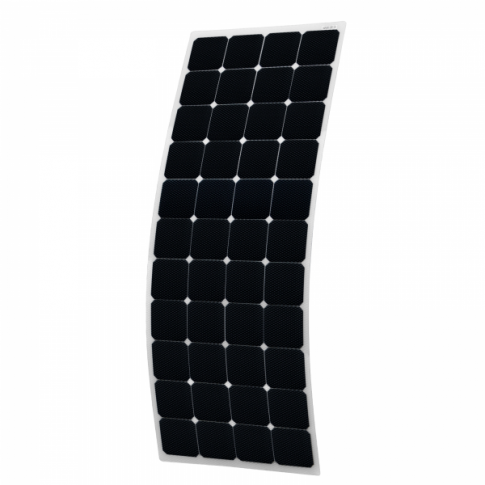 150W Semi-flexible Solar Panel with Round Rear Junction Box and 3m cable, with durable ETFE coating (Back-contact solar cells)