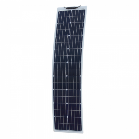80W Reinforced narrow semi-flexible solar panel with a durable ETFE coating (German solar cells)