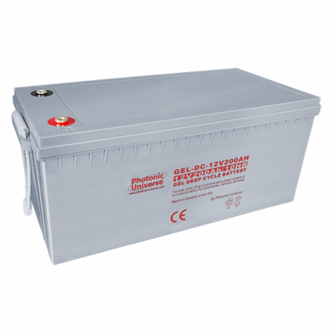 200Ah 12V Gel deep cycle battery for motorhomes, caravans, boats and off-grid power systems
