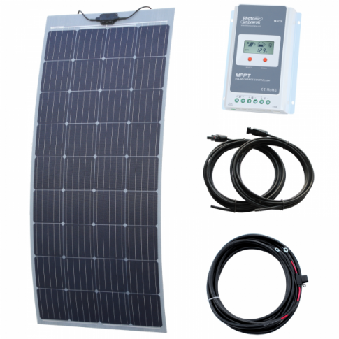 170W semi-flexible solar charging kit with Austrian textured fibreglass solar panel (with self-adhesive backing)