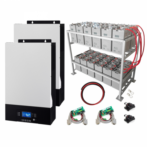 10kW Zero-Transfer Uninterrupted Power Supply (UPS) System with 24kWh energy storage