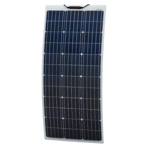 100W Reinforced narrow semi-flexible solar panel with a durable ETFE coating (German solar cells)