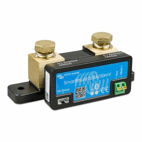 Victron 500A 12V/24V/48V Battery Monitoring SmartShunt with Inbuilt Bluetooth