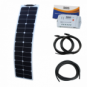 50W 12V narrow semi-flexible durable ETFE back-contact solar charging kit for motorhome, caravan, campervan, rv, boat or yacht