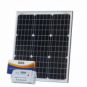 50W 12V solar charging kit with 10A controller and 5m cable (German solar cells)