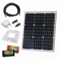 50W 12V dual battery solar charging kit (GERMAN solar cells) with 10A controller, mounting brackets and cables