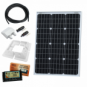60W 12V dual battery solar charging kit with 10A controller, mounting brackets and cables