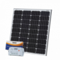 80W 12V solar charging kit with 10A controller and 5m cable (German solar cells)