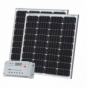 160W (80W+80W) solar charging kit with 20A controller and 2 x 5m cables (German solar cells)