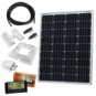 100W 12V dual battery solar charging kit (GERMAN solar cells) with 10A controller, mounting brackets and cables
