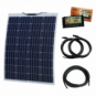 100W 12V Reinforced semi-flexible dual battery solar charging kit