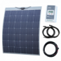200W semi-flexible solar charging kit with Austrian textured fibreglass solar panel (with self-adhesive backing)