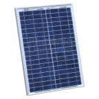 20W 12V polycrystalline solar panel with 2m cable