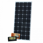 160W dual battery solar kit for camper / boat (with 20A dual battery controller and 5m cable)