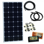 100W 12V Dual Battery Solar Panel Kit (Back-Contact Solar Cells) for Boat and Yacht