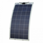 130W semi-flexible solar panel with eyelets and fasteners (made in Austria)