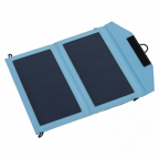 12W portable folding phone solar charger for smartphones with 1A and 2A USB outputs