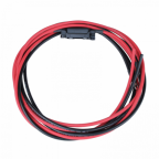 3m 10mm2 single core red and black extension cable with a fuse holder, 40A fuse and ring terminals (8mm)
