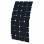 100W Flexible Solar Panel with Rear Junction Box, made of back-contact cells with durable ETFE coating, for motorhome, caravan, camper, rv, boat