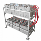 24kWh 48V 500Ah AGM deep cycle battery bank with metal racking (24 x 2V batteries)