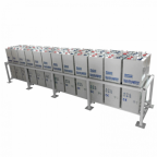 38kWh 48V 800Ah OPzV tubular deep cycle battery bank with metal racking (24 x 2V batteries)