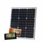 50W 12V dual battery solar kit (German solar cells) for camper, boat, yacht with controller and cable