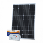 120W 12V solar charging kit with 10A controller and 5m cable (German solar cells)