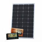 120W 12V dual battery solar kit (German solar cells) for camper, boat, yacht with controller and cable