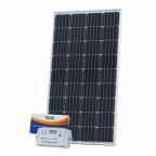 150W 12V solar charging kit with 10A controller and 5m cable (German solar cells)