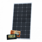150W 12V dual battery solar kit (German solar cells) for camper / boat with controller and cable
