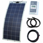 150W semi-flexible solar charging kit with Austrian textured fibreglass solar panel (with eyelets and fasteners)