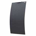 110W Black Semi-flexible solar panel with durable ETFE coating (Back-contact solar cells)
