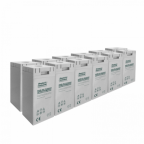 24V 300Ah AGM deep cycle battery bank (12 x 2V batteries) for large power systems and energy storage