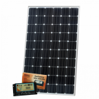 320W 12V dual battery solar kit (German solar cells) for camper / boat with controller and cable