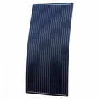 160W Black Reinforced semi-flexible solar panel with round rear junction box and 3m cable, with durable ETFE coating (German solar cells)