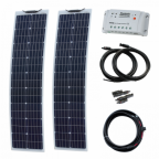 160W (80W+80W) 12V Reinforced narrow semi-flexible solar charging kit