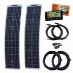 160W (80W+80W) 12V Reinforced narrow semi-flexible dual battery solar charging kit