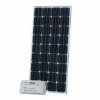160W 12V solar charging kit with 20A controller and 5m cable