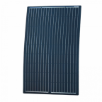 120W Black Reinforced semi-flexible solar panel with round rear junction box and 3m cable, with durable ETFE coating (German solar cells)